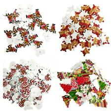 100pcs Christmas Craft Wooden Sewing Buttons Scrapbooking 2 Holes Buttons