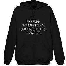 PREPARE TO MEET THY SOCIAL STUDIES TEACHER HOODIE SWEATSHIRT XMAS GIFT