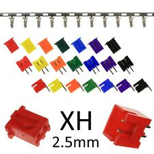 2-pin COLOURFUL XH 2.5mm Connectors (JST XH Style) - Plug Housing, Header Crimps