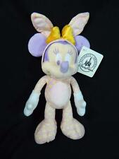 "Walt Disney Parks World Minnie Mouse Easter Bunny 9"" Plush Stuffed Toy ~ NEW"