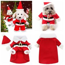Pet Small Large Puppy Dog Cat Clothes Santa Claus Christmas Coat Costume Outfits