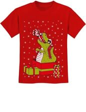 T-Rex Christmas Gift Dinosaur Ugly Xmas Party Youth Kids T-Shirt Raptor