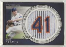 2012 Topps Manufactured Retired Number Patch RN-TS Tom Seaver New York Mets Card