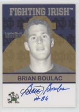 2003 2003-07 TK Legacy Notre Dame #FI76 Brian Boulac Fighting Irish Auto Card