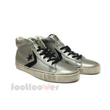 Converse Star Player Pro Leather Vulc Distressed Mid 158921C mens grey sneakers