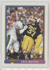 1991 Bowman #450 Eric Moten San Diego Chargers Michigan State Spartans RC Card