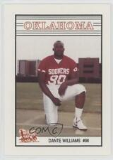 1989 Oklahoma Sooners Team Issue #98 Dante Williams Rookie Football Card