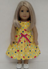 """Dress handmade to fit 18"""" American Girl Doll 18 inch Doll Clothes 3ab"""