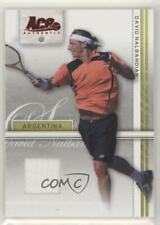 2007 Ace Authentic Straight Sets Materials #11 David Nalbandian Tennis Card