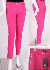 NWT AUTH McQ ALEXANDER McQueen PINK ZIP ANKLE SKINNY JEANS W/ QUILTED KNEE Sz-27