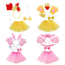 Child Animal Costume Set Ears Tail Bow Tie Glove Skirt Cosplay Party Fancy Dress