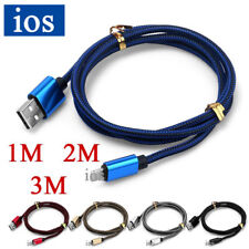 3/6/10FT Heavy Duty Braided USB Data Sync Charge Cable For IOS iPhone 6 7 8 Plus