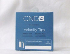 CND Creative Nail Design Tips Velocity CLEAR Refill Variations ~ 50ct/pack~