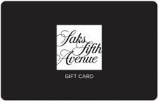 Saks 5th Avenue Gift Card $25, $50, or $100 - Email Delivery