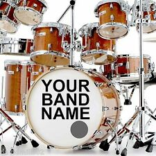 Vinyl Names and  Logos Decals Stickers for Band Bass Drums