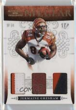 2010 Playoff National Treasures NFL Gear Trios Prime #23 Jermaine Gresham Card