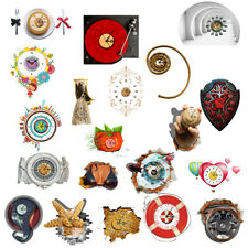 Creative 3D Wall Clock Removable Decals Art Sticker Home Wall Decor 20Styles