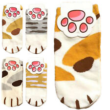 Lady Girls Summer Winter Cartoon Cute Cats Paw Kitty Claws Ankle Short Socks UP