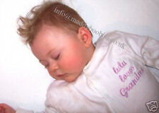 Personalised Sleepsuit Babygrow Baby  Boys Girls Embroidered with Name & Design