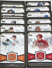 2012 Topps Baseball Gold Futures - Pick From Drop Menu - Free Shipping!