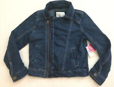 NEW Justice Girls jean motorcycle knit jean jacket coat size 5 NWT $63