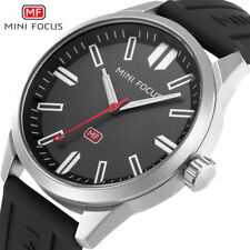 MINI FOCUS Men Sports Watches Quartz Watch Leather Army Military Wrist Watch