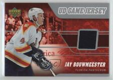 2006 Upper Deck UD Game Jersey J-JB Jay Bouwmeester Florida Panthers Hockey Card