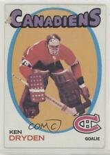 1971-72 Topps #45 Ken Dryden Montreal Canadiens RC Rookie Hockey Card