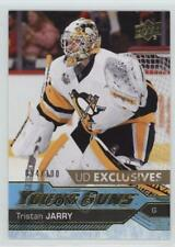 2016 Upper Deck Exclusives 466 Young Guns Tristan Jarry Pittsburgh Penguins Card