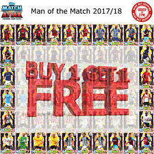 Match Attax 2017/18 Man of the Match MOTM Cards 17/18 Fast Free Delivery