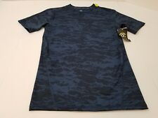 Mens Champion Duo Dry Power Core Athletic Short Sleeve Blue Camo Sz Sm & Lg NWT