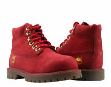 Timberland 6-Inch Premium Waterproof Red Limited Toddler Kids Boots A1KQQ