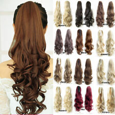 Lady Clip In Ponytail Pony Tail Hair Extension Claw Hair Piece Curly Straight Ah