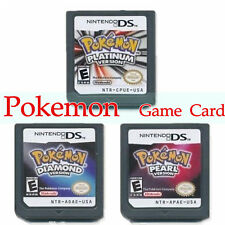 Pokemon Platinum Diamond Pearl DS Game Cards For 3DS NDSI NDS NDSL (US Version)