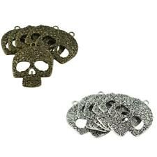 6Pcs Steampunk Skull Skeleton Pendant Charms for Necklace Jewelry Finding
