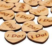 50 X Wooden Love Heart Table Confetti Scatter Wedding Decoration DIY Crafts