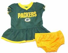 Gerber NFL Green Bay Packers Infant Baby Girl Dazzle Dress & Panty Set