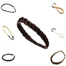 Braided Faux Hair Plaits Soft Extensions Stretchy Headband Hairband For Girl