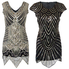 1920s Vintage Flapper Dress Great Gatsby Sequin Party Cocktail Prom Gown Costume