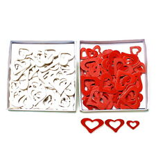 Wood - Scattering Hearts 72 Pieces Open, Assorted 3 Sizes