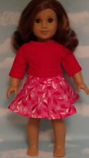 """Skirt Set handmade for 18"""" American Girl Doll to fit 18 inch Doll Clothes 559ab"""
