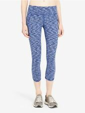 calvin klein womens performance space-dyed logo cropped leggings sapphire combo