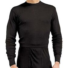 Black - Polyester Cold Weather Thermal Crew Neck Shirt