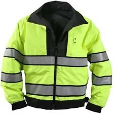 Safety Green To Black - Reversible High-Visibility Jacket, Water Resistant Unifo