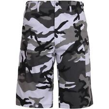 City Camouflage - Military Long Cargo BDU Shorts - Polyester Cotton Twill