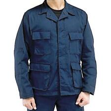 Navy Blue - Military BDU Shirt - Polyester Cotton Twill