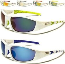NEW X-LOOP SUNGLASSES MENS LADIES WRAP WHITE SPORTS RUNNING CYCLING GOLF UV400
