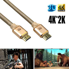 For PS4 Premium Braided High Quality HDMI Cable V2.0 4K 1080P 3D - HDTV LCD LED