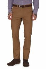 Moss 1851 Mens Tailored Fit Tobacco Coin Pocket Formal Pants Trousers Chinos