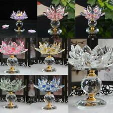 Tabletop Crystal Lotus Tealight Candlestick Candle Holder Feng Shui Gift